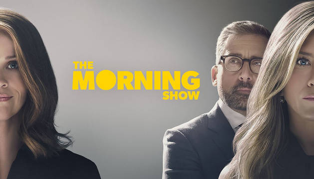 Foto oficial de la serie 'The Morning Show', protagonizada por Jennifer Aniston, Reese Witherspoon y Steve Carell.