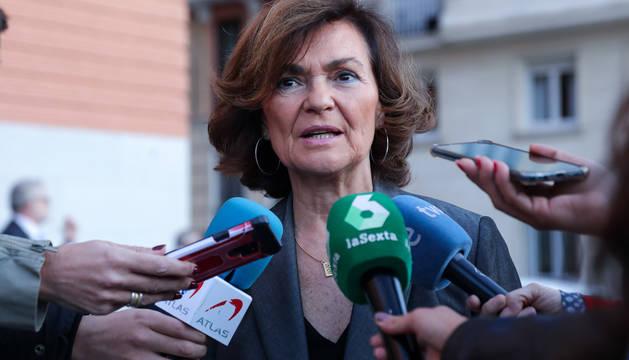 Foto de la vicepresidenta del Gobierno en funciones, Carmen Calvo, al inicio de esta semana.