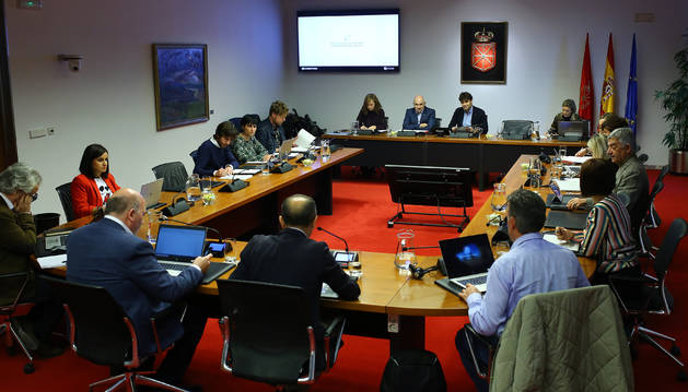 El vicepresidente y consejero de Proyectos Estratégicos, José María Aierdi, ayer en el parlamento.