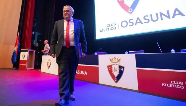 Luis Sabalza, este domingo en la Asamblea General Ordinaria.