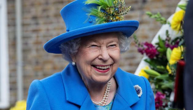 Foto de la reina Isabel II, de 93 años, en uno de sus recientes actos oficiales.
