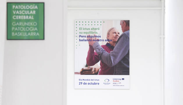 foto de Cartel del Día Mundial del Ictus en Navarra.