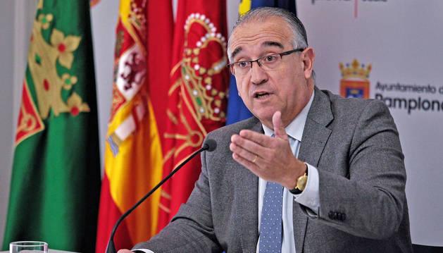 Foto de Enrique Maya, durante la presentación de este martes de las líneas generales de los presupuestos.
