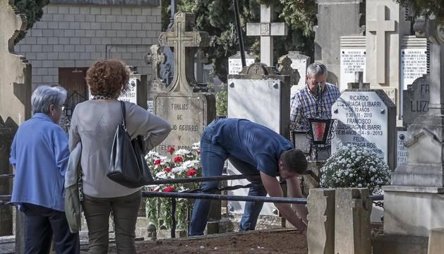 El cementerio de Estella, en una imagen tomada este miércoles en la antesala de Todos los Santos.