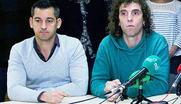 Joseba Eceolaza e Iñigo Rudi, durante una rueda de prensa.