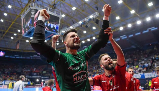 Edu Sousa detuvo el penalti que le dio a Osasuna Magna el pase a las semifinales de la Copa de España la pasada temporada.