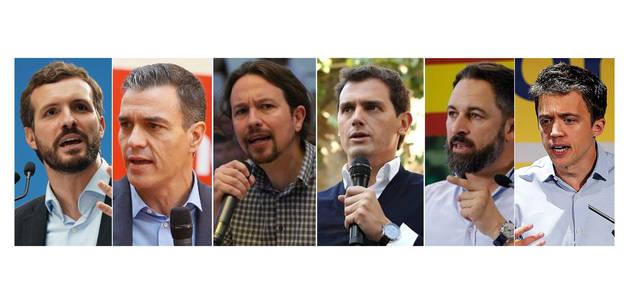 Los seis principales candidatos a la presidencia para estas Elecciones Generales del próximo 10 de noviembre