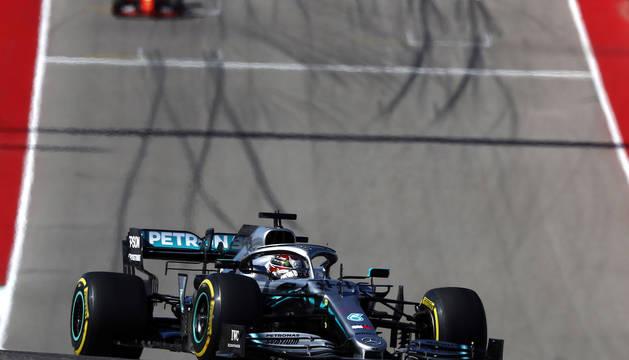 Lewis Hamilton, en el Gran Premio de Estados Unidos.