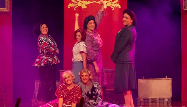 Instante de la función del Grupo de Teatro de Corella en Benavente.