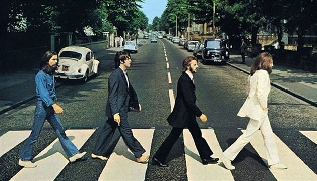 Foto de los Beatles para la portada de su disco Abbey Road.