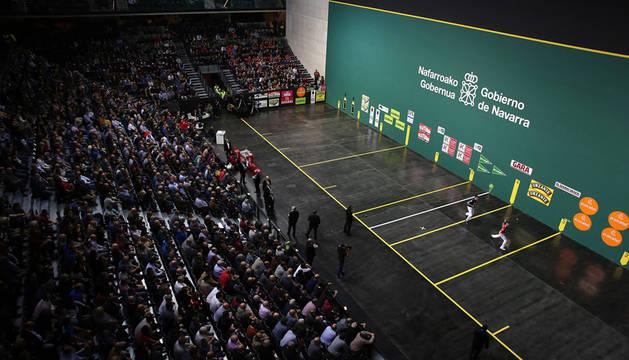 Ezkurdia y Altuna se enfrentaron en la final del año pasado disputada en el Navarra Arena.