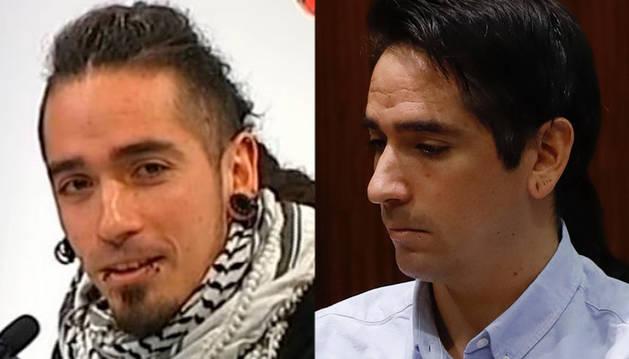 Foto del radical cambio de imagen de Rodrigo Lanza, juzgado por matar presuntamente a Víctor Laínez por llevar unos tirantes con la bandera de España en 2017.