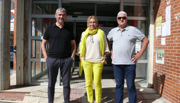 Foto de Javier Jiménez, Pilar Navascués y Jesús Martínez.