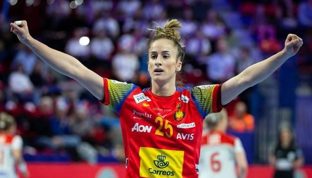 La pamplonesa Nerea Pena, una de las grandes referentes en la selección nacional femenina.