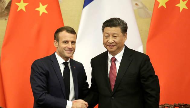 Macron y Xi piden 100.000 millones de dólares al año contra el cambio climático
