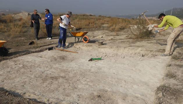 Imagen de los trabajos de la segunda fase de las excavaciones que se lleva a cabo.