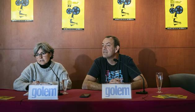 Begoña Arrondo Aguirre (Fundación IPES) y Luis Arellano Blasco, de la plataforma No Solo Films.