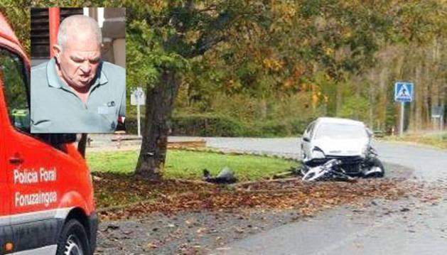 Fallece el vecino de Villava que chocó contra un árbol en Azo