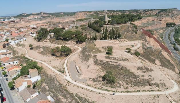 Imagen del Cerro de Santa Bárbara, donde ya se hizo una primera fase de mejora con varios caminos y la puesta en valor de restos de murallas.