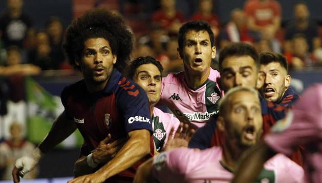 Aridane, en el partido contra el Betis.