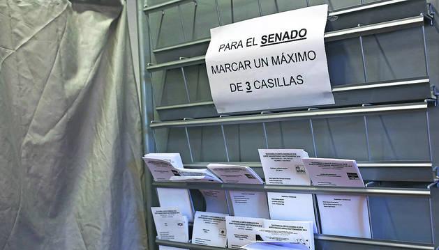 512.820 navarros podrán participar hoy en las elecciones al Congreso y Senado