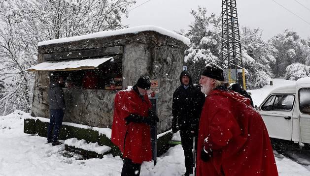 La nieve cubre el norte de Navarra