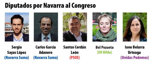 Diputados al Congreso por Navarra - 10N