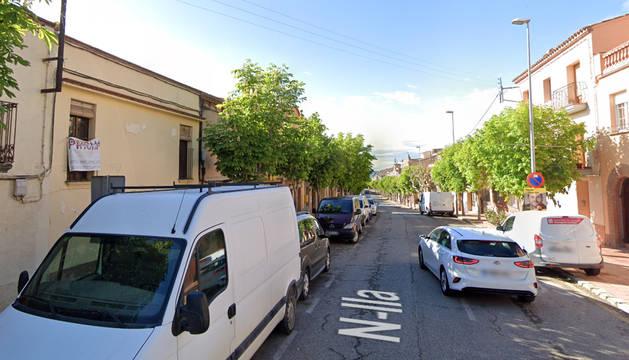 Una calle de El Bruc, donde fue atropellado el bebé.