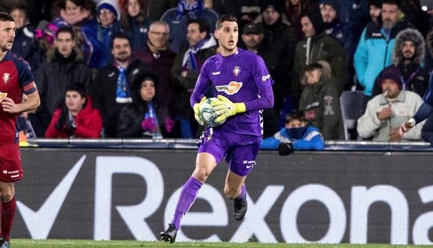 Sergio Herrera, en un momento del partido contra el Getafe.
