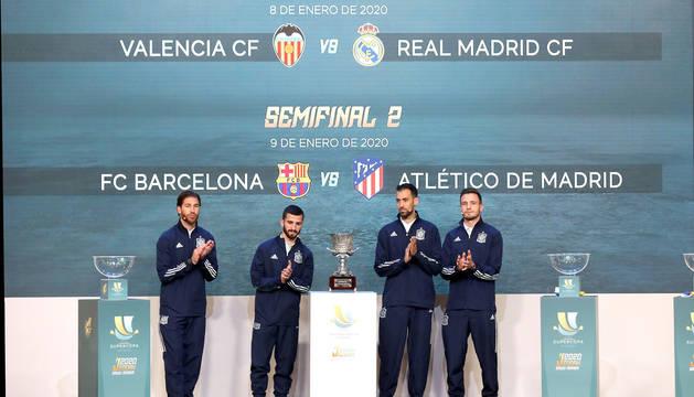 Sorteo de la Supercopa de España.