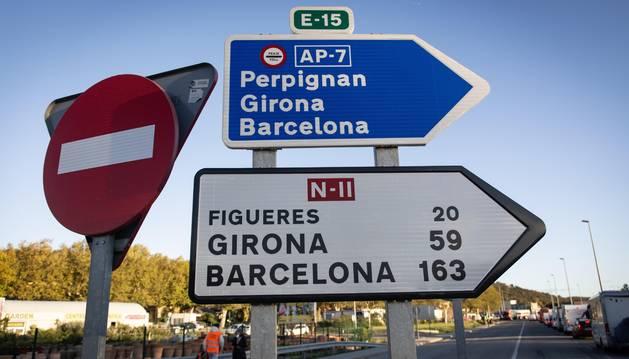 Foto de la AP-7 en dirección Perpignan, Girona y Barcelona.