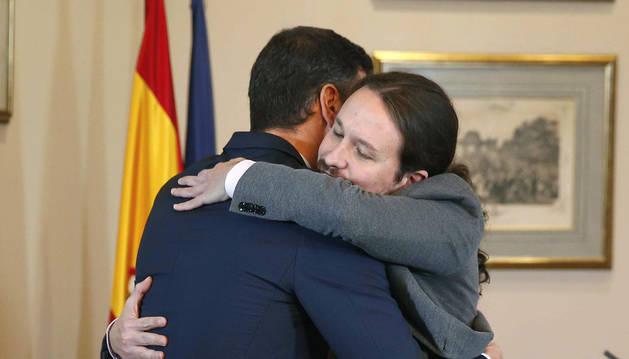 "Sánchez e Iglesias alcanzan un acuerdo para un ""Gobierno de coalición progresista"""