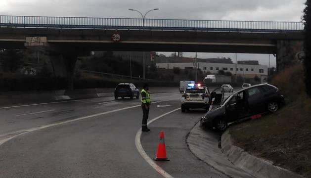 Imagen de estado en el que ha quedado el vehículo implicado en el accidente de tráfico.