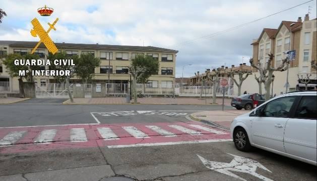 Foto de una señal de stop en Castejón.