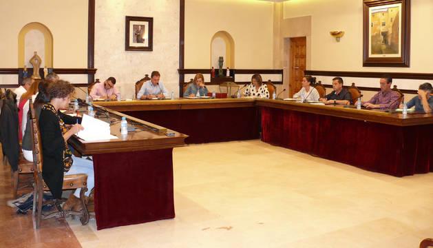 Foto del último pleno del Ayuntamiento de Cintruénigo.