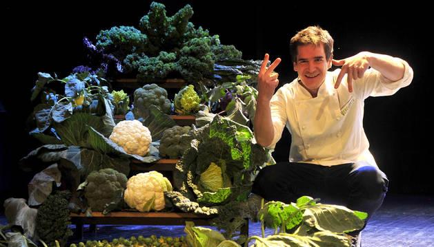 Nacho Gómara ofreció una master class en Funes con el brócoli como protagonista.