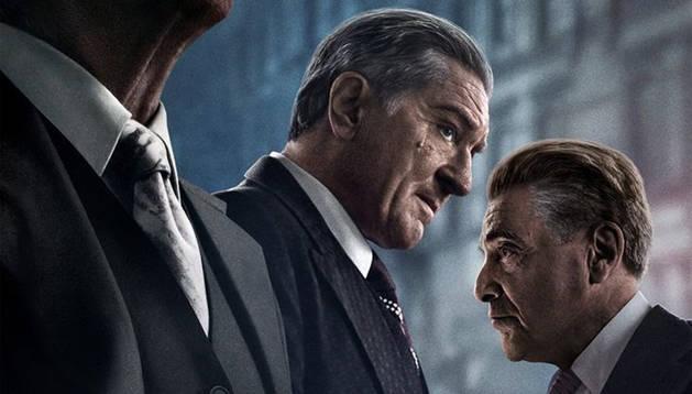 Foto de la foto promocional de la película 'El irlandés'.