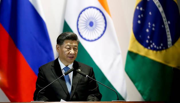 Xi Jinping, durante la XI Cumbre de los BRICS (China, India, Rusia, Brasil y Sudáfrica).