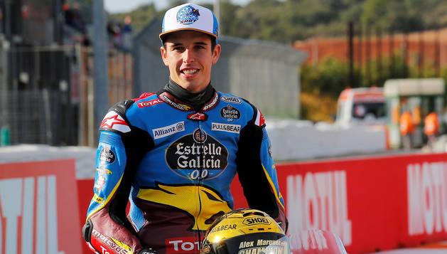 Álex Márquez, en una imagen sobre el circuito Ricardo Tormo de Cheste, Valencia.