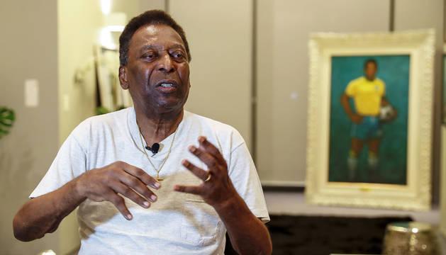 Pelé, durante la entrevista mantenida con EFE el 12 de noviembre