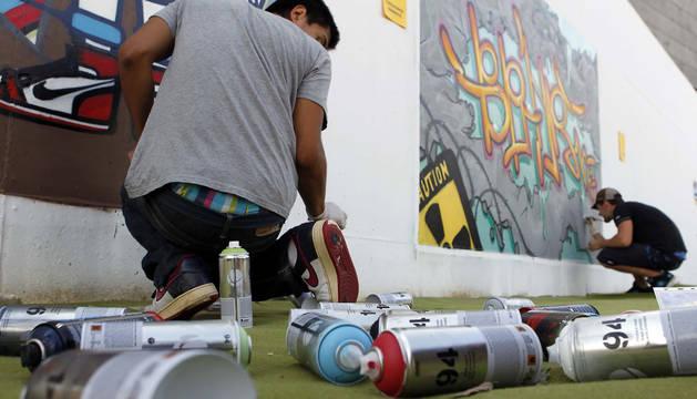 Certamen de grafiti en Civivox Mendillorri en 2011.