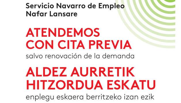 El Servicio Navarro de Empleo implanta la cita previa en Tafalla