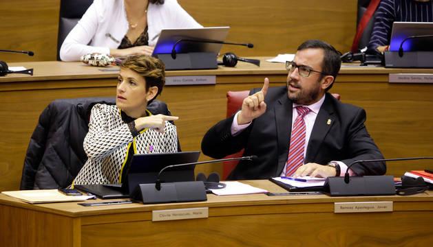 María Chivite y Javier Remírez.