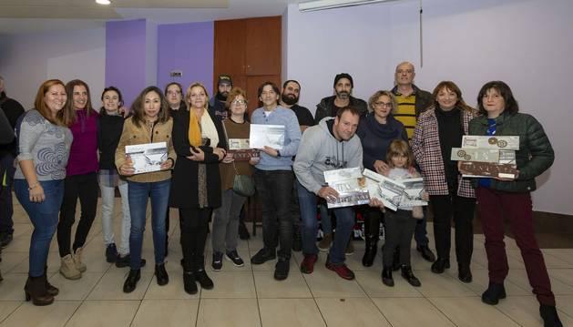 Foto de entrega de premios de la XVIII Semana del Pintxo de la Txantrea