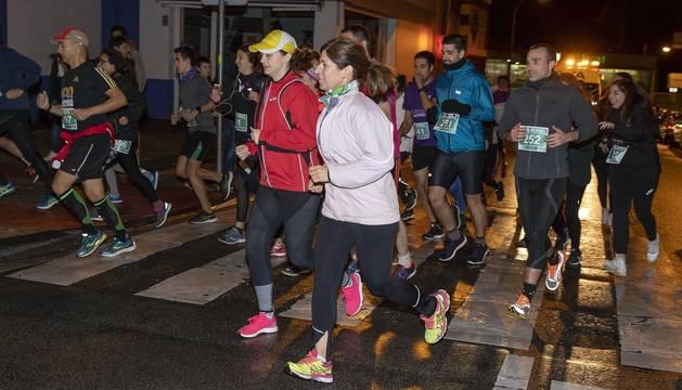 Participantes en la carrera disputada el viernes, 22 de noviembre, por Pamplona sobre una distancia de 5,6 kilómetros.