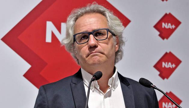 Foto de Carlos Pérez-Nievas, en una rueda de prensa en la sede de Ciudadanos.