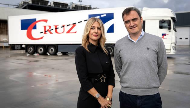 Susana Cruz Soria y Pablo Andueza Artal, consejera delegada y director gerente, respectivamente, en Transportes Cruz.