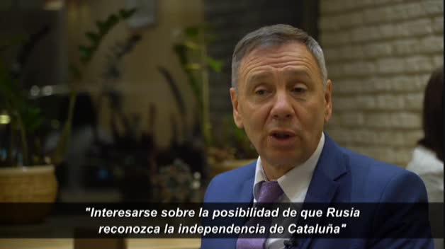 Un hombre de confianza de Putin asegura que el independentismo catalán buscó el reconocimiento de Rusia a la independencia