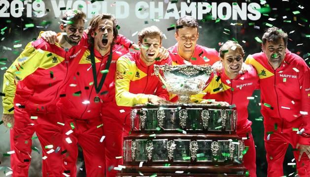 Imágenes del equipo español, campeón de la Copa Davis 2019.