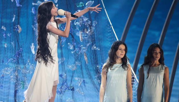 La actuación de Melani en Eurovisión Junior 2019.